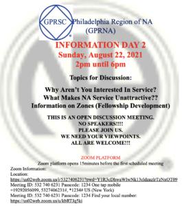 Greater Philadelphia Region Informational 2-Day Event