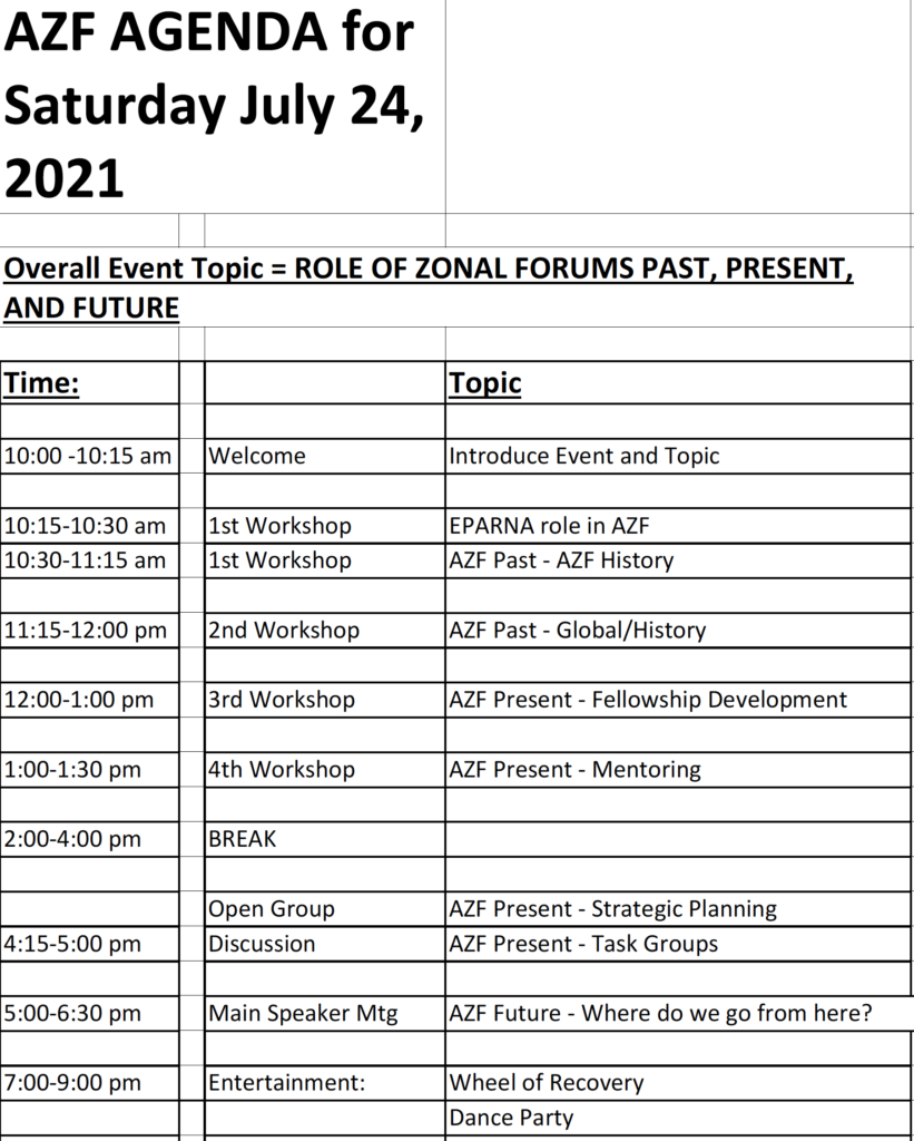 AZF 2 day event - Eastern PA Region